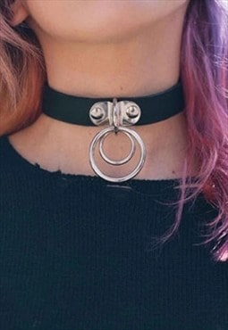 MoonChild Vegan Faux Leather O Ring Choker