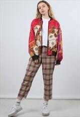 Vintage Medium Pink Festival Bomber Jacket