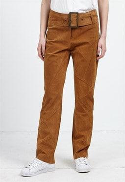 Vintage Brown YUPPIE Suede Trousers Bottoms