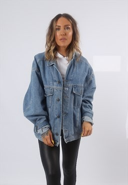 Denim Jacket Oversized Fitted Vintage UK 18 (GG2S)