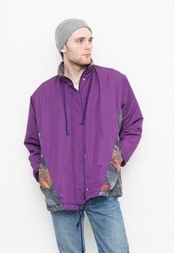 Vintage Jacket Nylon Purple Windbreaker Zip Up