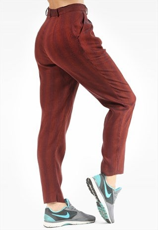 TAPERED TROUSERS VINTAGE HIGH WAISTED
