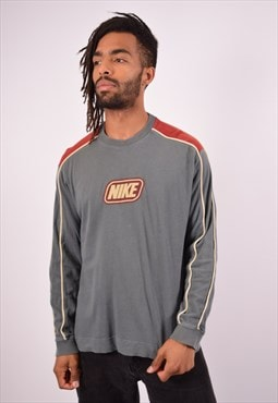Vintage Nike Top Long Sleeve Grey