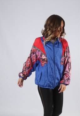 Shell Bomber Jacket Print Oversized Patterned UK 14 (CKBD)
