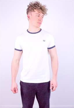 Vintage Fred Perry Ringer T-Shirt in White
