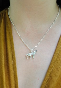 MoonChild Wolf pendant necklace