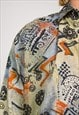 VINTAGE 90'S WAVEY ABSTRACT PATTERN FESTIVAL SHIRT