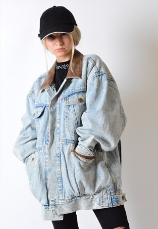 VINTAGE 90S LIGHT ACID WASH DENIM JACKET