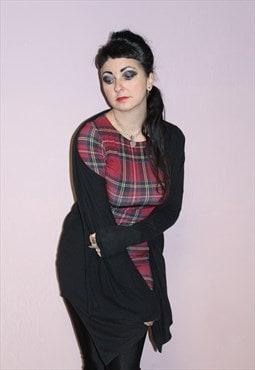 Vintage Black Slouchy Cardigan Cotton Comfortable Loungewear