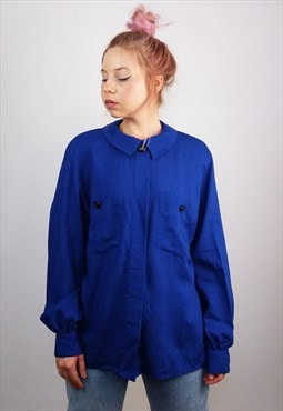 PETER HAHN Vintage 80's Pure Wool  Shirt / Blouse