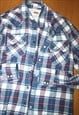 VINTAGE 00S LEVIS USA WESTERN CHECKED SHIRT - LARGE - LEVI'S