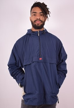 Nike Mens Vintage Pullover Jacket Large Blue 90s