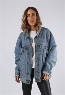 Vintage Denim Jacket Oversized Fitted UK 16 XL (9EAW)