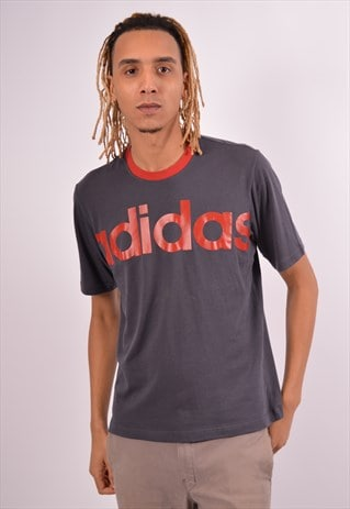 Vintage Adidas T-Shirt Top Grey
