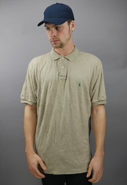 Vintage Ralph Lauren Polo Shirt in Beige with Logo