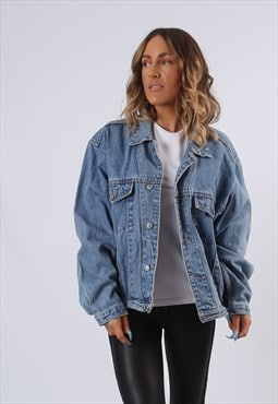 Denim Jacket JINGLERS Oversized Fitted UK 16 - 18 (B6AX)