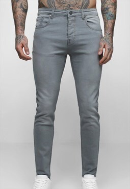 Essential Slim Max Jegging Skinny Denim Jeans - Slate Grey