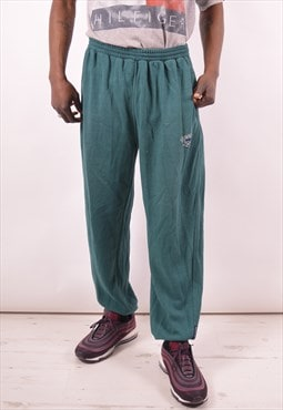 Reebok Mens Vintage Tracksuit Trousers Large Green 90s