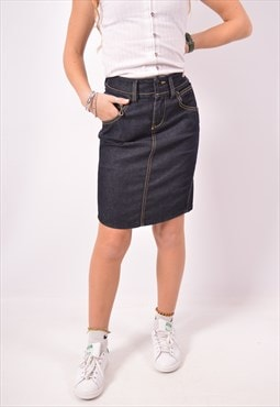 Vintage Diesel Low Waist Denim Skirt Navy Blue