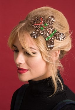 Diamante Christmas Gingerbread Man Hairband