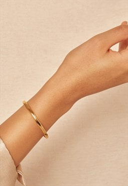Gold vermeil bangle