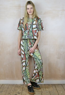 Nature Trail Print Crop Pants Co-ordinates