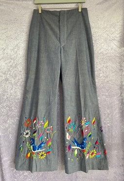 Amazing Embroidered 70s Flares