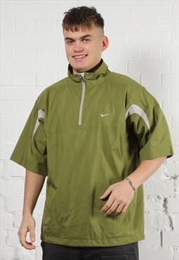 Vintage Nike Jacket in Green w/ Tick Logo - Large