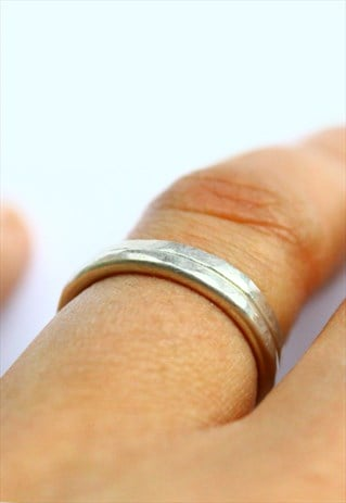 STERLING SILVER STACKING RINGS, SET OF TWO