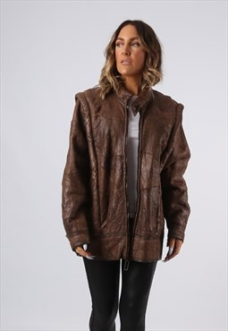 Sheepskin Leather Shearling Coat UK 14 (K9BR)