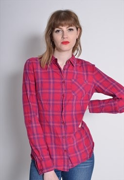 Vintate Tommy Hilfiger Check Flannel Shirt Red