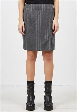 Vintage Grey ALBA MODA Striped Mini Skirt