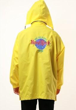 90s Vintage Hard Rock Cafe Club Windbreaker Shell Coat 15010