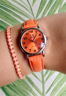 Classic Super Slim Orange Watch