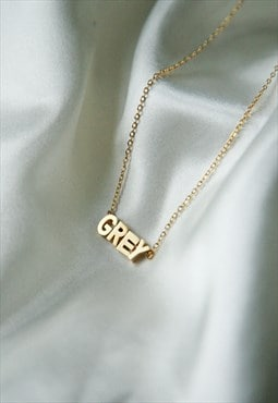 Personalised 18k gold name necklace