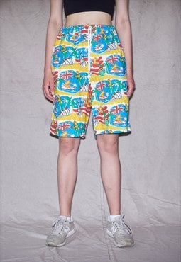 80s Super RARE Milk Energy Unisex Rainbow Printed Shorts