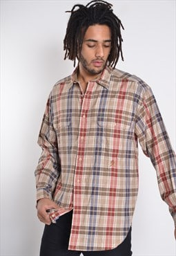 Vintage Tommy Hilfiger Long Sleeve Check Shirt Brown