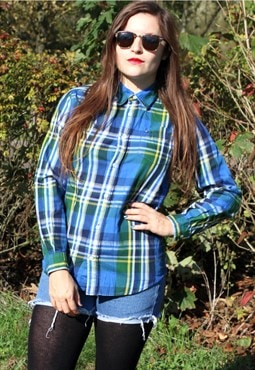 Vintage 90s Tommy Hilfiger USA Checked Shirt Medium Check