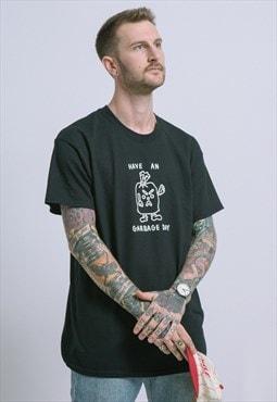 Playdude Garbage Day Black T-Shirt