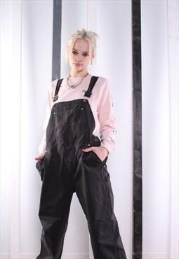 Vintage Black Denim Dungarees 90s Overalls. Workwear