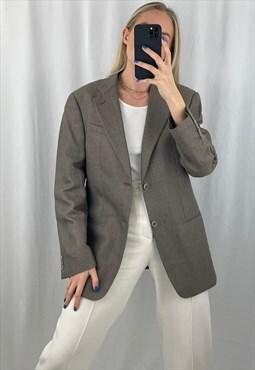Armani Blazer Vintage 90s Jacket Collezioni Wool Coat