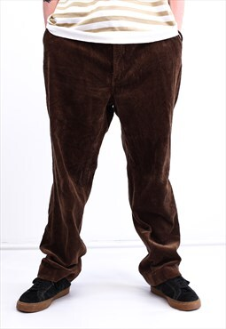 Vintage Ralph Lauren Corduroy Trousers Brown With Pockets