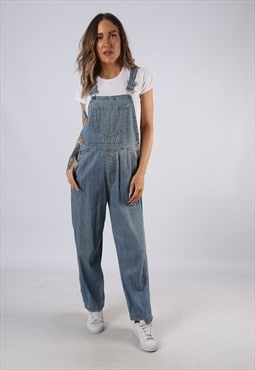 Vintage GAP Denim Dungarees Wide Leg UK 10 Small (HC3S)