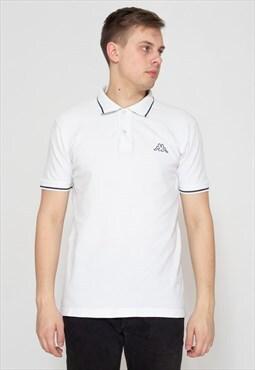 90s Vintage White KAPPA Short Sleeve Polo Shirt Top
