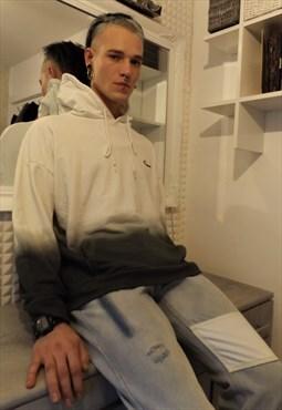 Drop shoulder premium quality tie dye gradient washed hoodie