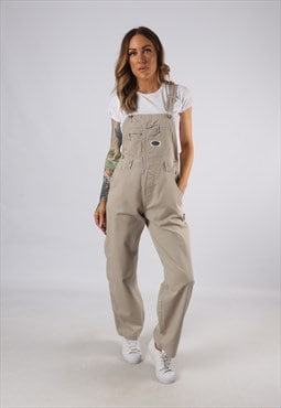Vintage Cotton Dungarees Wide Tapered Leg UK 8 XS (E4X)