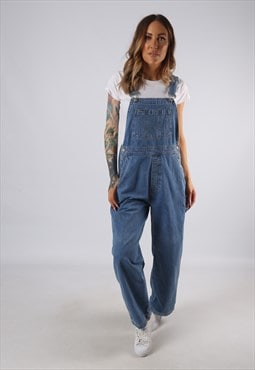 Vintage GAP Denim Dungarees Wide Leg UK 10 Small  (JE4R)