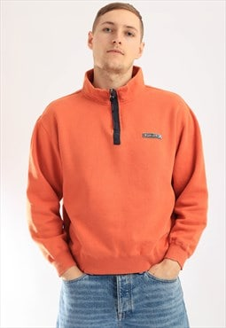 Vintage Kangol 1/4 zip Sweatshirt Orange