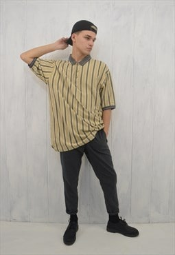 Vintage striped 80's polo shirt