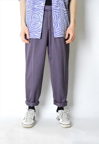 VINTAGE 90S PURPLE PANTS. MADE IN PORTUGAL